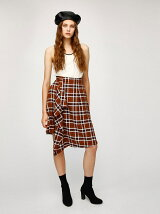 PLAID CHECK WRAP SKIRT
