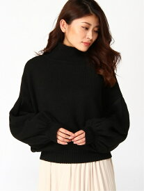rienda M/N Tuck Shoulder Knit TOP リエンダ ニット 長袖ニット ブラック ベージュ パープル オレンジ ホワイト【送料無料】