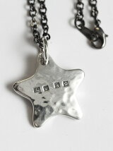 【ネックレス】Hammered Star Hallmarks Pendant Head