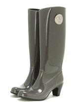 Long logo Heel Boots/レインブーツ/ロングブーツ
