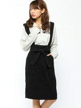 【Dukkah】(L)サスツキリボンAラインスカート