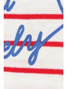 肩開きボーダーロゴTシャツ(110〜160cm)