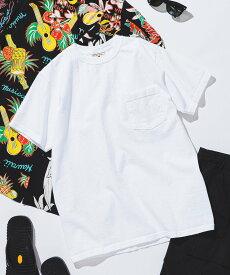 BEAMS MEN GOODWEAR / ポケット Tシャツ ビームス メン カットソー Tシャツ ネイビー ホワイト レッド ブラウン ベージュ ブラック ピンク カーキ パープル オレンジ グリーン【送料無料】