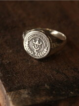 【リング】Hallmarks Coin Seal Ring /Logo