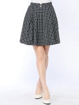 ガールズチェックフレアスカート