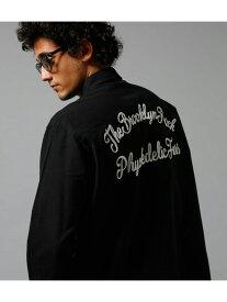 【SALE/70%OFF】AZUL by moussy ネル起毛オックスバック刺繍長袖シャツ アズールバイマウジー シャツ/ブラウス シャツ/ブラウスその他 ブラック