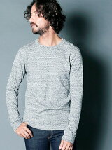 REVERSIBLE SPLASH CTN KNITSAW C/N L/S