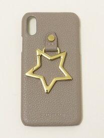 SHIPS any HASHIBAMI:iPhoneケースX/XS シップス ファッショングッズ 携帯ケース/アクセサリー グレー ブラック シルバー