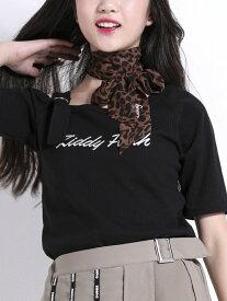 ZIDDY ワンショルランダムテレコTシャツ ベベ オンライン ストア カットソー Tシャツ ブラック ブラウン