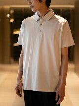 ATTACHMENT/TA/CO MIX WARP KNITTING S/S POLO
