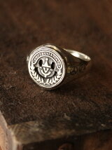 【リング】Hallmarks Coin Seal Ring / Smiley