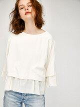 CUT COMBI RUFFLE TOP