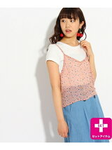 ★ニコラ掲載★Tシャツ×キャミSET