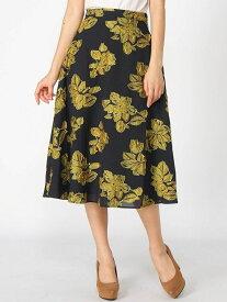 【SALE/20%OFF】rienda FlowerカットJQ J/WフレアSK リエンダ スカート フレアスカート ネイビー ホワイト【送料無料】