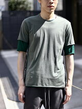 ATTACHMENT/80/2 TIGHT TENSION JERSEY LAYERED T-SHIRT