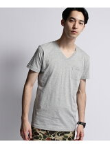 ◆inner light v neck pocket tee