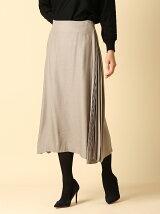 《INED international》サイドプリーツフレアスカート