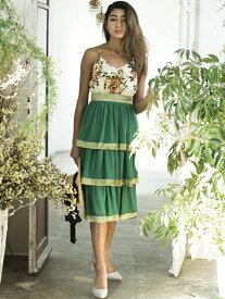 【SALE/30%OFF】Million Carats フラワーティアードワンピース[DRESS/ドレス] ミリオンカラッツ ワンピース【RBA_S】【RBA_E】【送料無料】