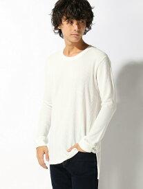 【SALE/10%OFF】Beno 針抜きサーマルロング丈Tシャツ トップイズム カットソー Tシャツ ホワイト カーキ グレー ブラック