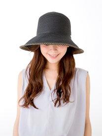 Aurelia つば先ラメブレードハット ケイスタイル 帽子/ヘア小物 ハット ブラック ベージュ【送料無料】
