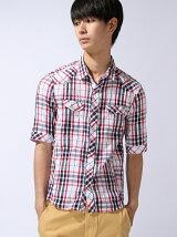 5ブソデチェックシャツ