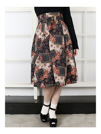 【SALE/49%OFF】dazzlin バッククロスフレアスカート ダズリン スカート フレアスカート ブラック オレンジ ベージュ【送料無料】