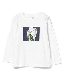 B:MING by BEAMS B:MING by BEAMS / オートモアイ プリン ロングスリーブ Tシャツ(90~150cm) ビーミング ライフストア バイ ビームス カットソー Tシャツ ホワイト ブラック ブラウン