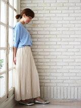 サテンヴィンテージプリーツスカート