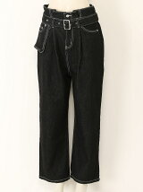 BELT DENIM PANT