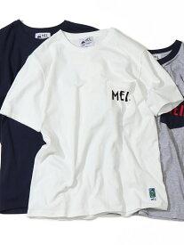 【SALE/30%OFF】coen 【GOOUT7月号掲載】【女性にも人気】MEI(メイ)別注ポケットTシャツ コーエン カットソー Tシャツ ホワイト ベージュ グリーン ネイビー レッド