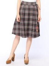 サイドレースアップ刺繍スカート
