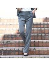 《スーツ対応》ミントソリビアフルレングスパンツ