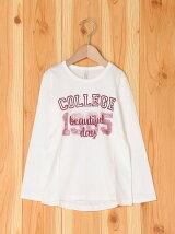 (K)カレッジガールプリントTシャツ・カットソーDP1