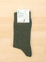 (M)カシミアブレンドソックス・靴下