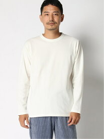 GLOBAL WORK (M)ストレッチハーフミラノT/UDR グローバルワーク カットソー Tシャツ ホワイト ネイビー ベージュ オレンジ