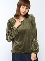 【RETRO GIRL】袖デザインベロアP/O
