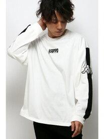VENCE share style KappaシシュウロゴLST ヴァンス エクスチェンジ カットソー Tシャツ ホワイト ブラック【送料無料】