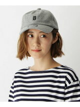 【ユニセックス】B刺繍 フェルトローキャップ33024