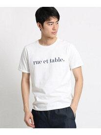 【SALE/40%OFF】THE SHOP TK コットンロゴ刺しゅうTシャツ ザ ショップ ティーケー カットソー Tシャツ ホワイト グリーン
