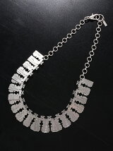razor bladeoverlapped necklace