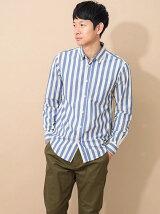 Men's ブロードストライプ 長袖レギュラーシャツ