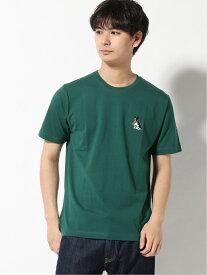 WEGO WEGO/(M)DOG刺繍T(S) ウィゴー カットソー Tシャツ グリーン イエロー グレー ホワイト