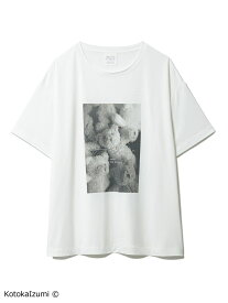 gelato pique 【kotoka izumi】ベアワンポイントTシャツ ジェラートピケ インナー/ナイトウェア ルームウェア/トップス ホワイト【送料無料】