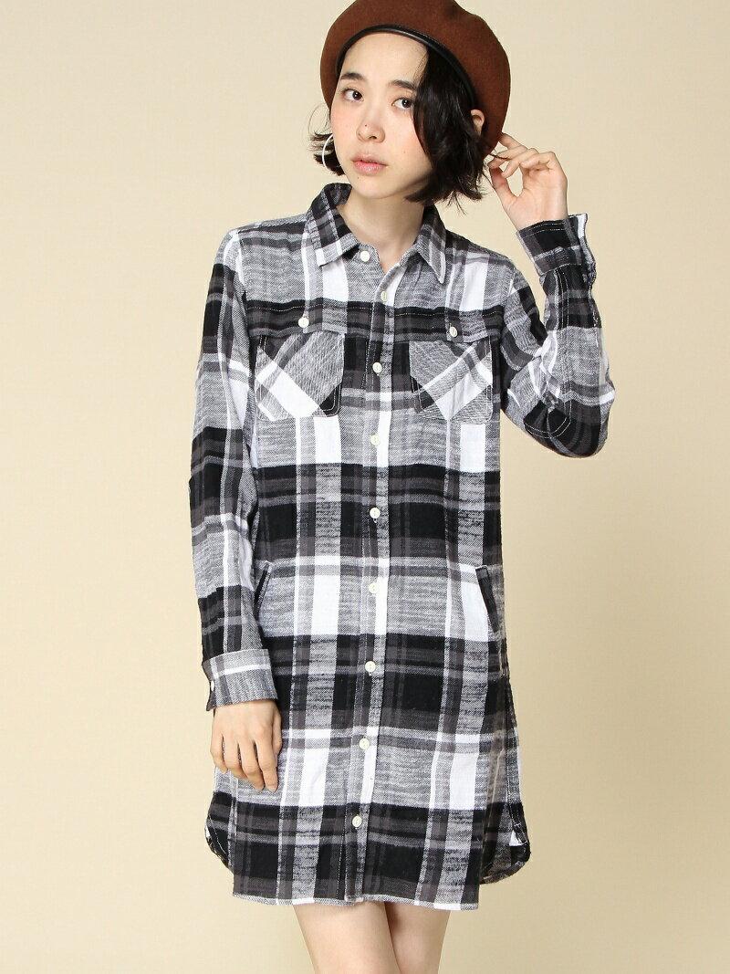X-girl NEP FLANNEL SHIRT DRESS エックスガール ワンピース【送料無料】