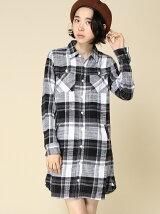 NEP FLANNEL SHIRT DRESS