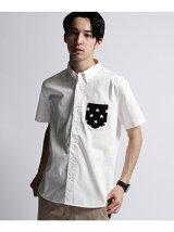 半袖スターニットポケットシャツ