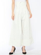 stripe wide pants