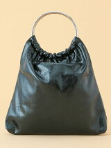 【WEB限定】【CASSELINI】メタリックリングハンドルバッグ