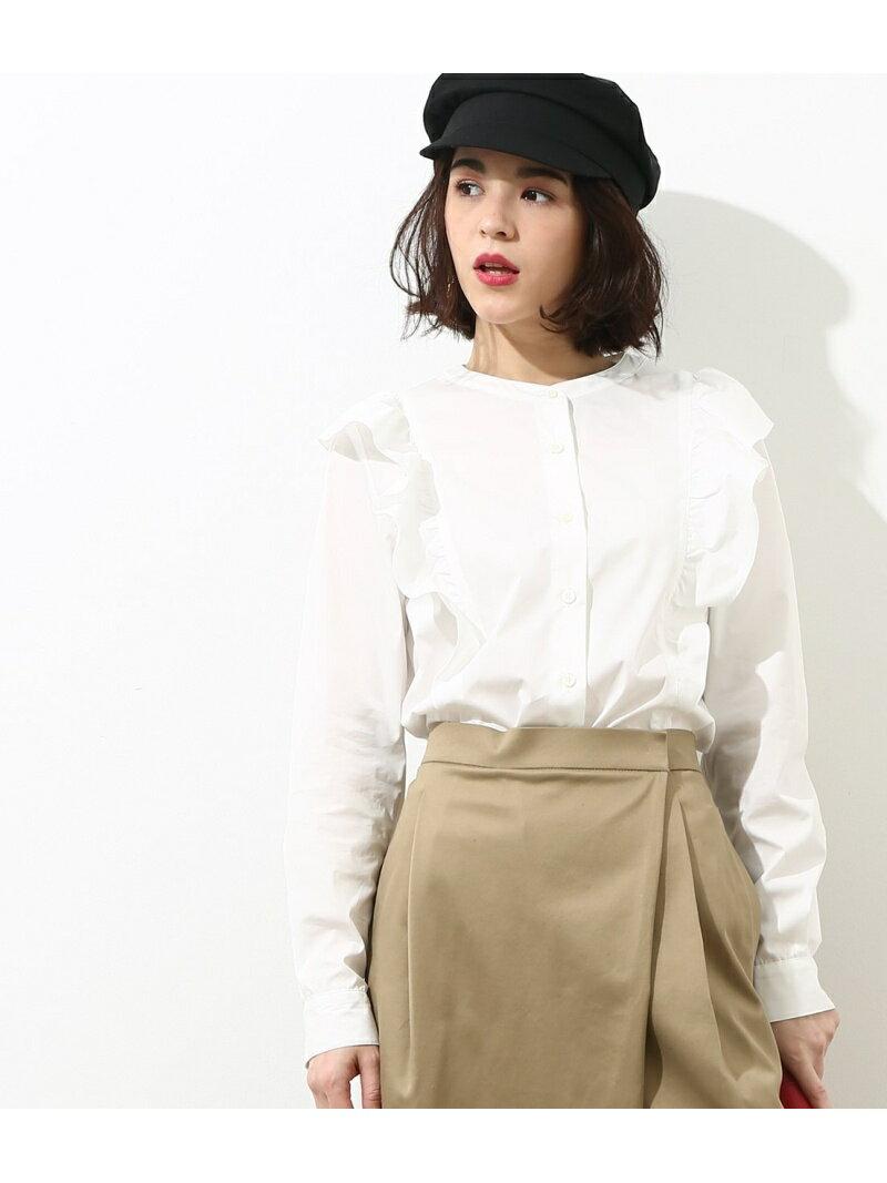 【SALE/50%OFF】ROPE' mademoiselle タイプライターフリルシャツ ロペ シャツ/ブラウス【RBA_S】【RBA_E】【送料無料】