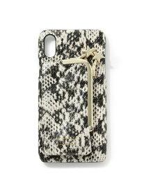 【SALE/30%OFF】ROPE' mademoiselle 【WEB限定】【HASHIBAMI】パイソンiPhoneケース(X/XS対応) ロペ ファッショングッズ 携帯ケース/アクセサリー ホワイト